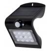 Aplique Solar 1,5w 4000k+6000k Solaris Negro 220lm Ip65 Carga Solar Sensor Movil Y Luminic