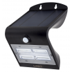 Aplique Solar 3,2w 4000k+6000k Solaris Negro 400lm Ip65 Carga Solar Sensor Movil Y Luminic