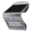 Aplique Solar 3,2w 4000k+6000k Solaris Plata 400lm Ip65 Carga Solar Sensor Movil Y Luminic