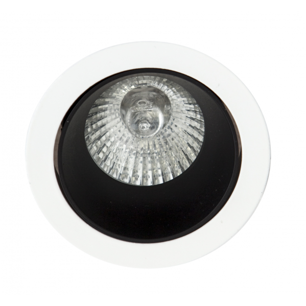 Empotrable Alfabeto 1xgu10 Negro/blanco 8d Orientable