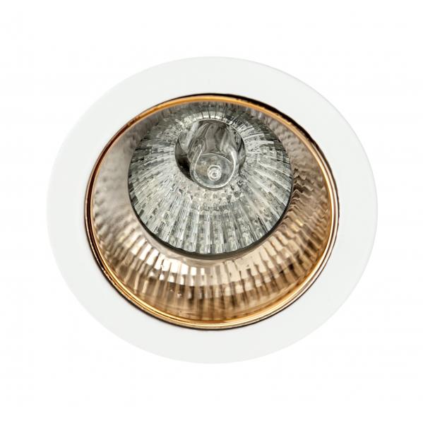Empotrable Alfabeto 1xgu10 Oro/blanco 8d Orientable