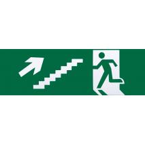 Adhesivo Salida De Emergencia Escalera Derecha Subida 6,5x20