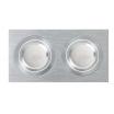 Regleta Foco Empotrar Alumini/cromo 2xg10 Incluida 12w 4000k 1200lm 17,5x9x2 Androide