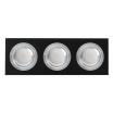 Regleta Foco Empotrar Negro/cro 3xg10 Incluida   18w 4000k 1800lm 26x9x2 Androide