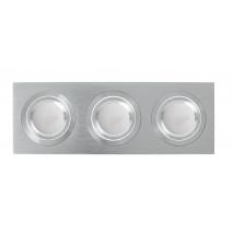 Regleta Foco Empotrar Alumini/cro 3xg10 Incluida   18w 4000k 1800lm 26x9x2 Androide