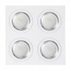 Plafon Foco Empotrar Blanco/cromo 4xg10 Incluida 24w 4000k 2400lm 17,5x17,5x2 Androide