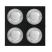 Plafon Foco Empotrar Negro/cromo 4xg10 Incluida 24w 4000k 2400lm 17,5x17,5x2 Androide