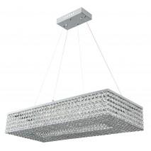 Colgante 64w Cromo Brillante 70x31 Cristal C/ Remoto Control Intensidad  3000k,4000k,6000k