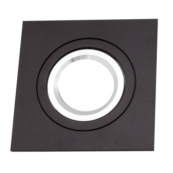 Empotrable Itaca Cuadr. 10x10 Marron/cromo Gu10