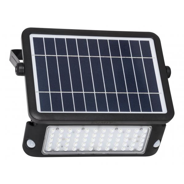 Proyector 10w 6000k C/sesor De Movimiento Y Solar Negro Ip65 1080lm 26x30x13 Murat