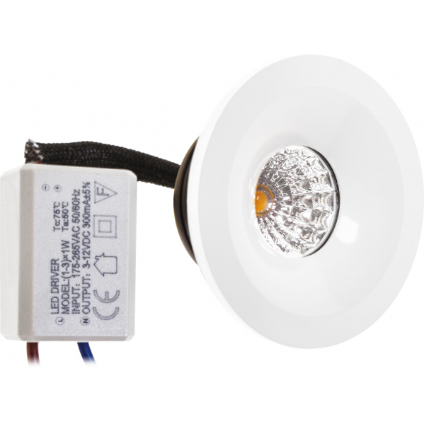 Empotrable Fijo 1w 4000k Blanco Centimo 65lm 4,9d Ip65